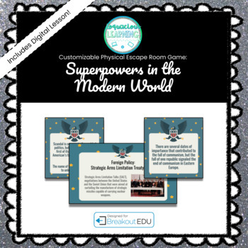 Superpowers of the Modern World (World History) Breakout Game (Content Below)