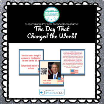 Day that Changed the World (9/11) Customizable Escape Room / Breakout Game