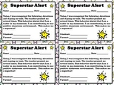 Superstar Alert - Positive Student Behavior Note for Parents  - King Virtue
