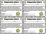 Superstar Alert - Positive Student Behavior Note for Parents  - King Virtue