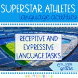 Superstar Athletes Middle & High School Speech Therapy Comprehension Activities