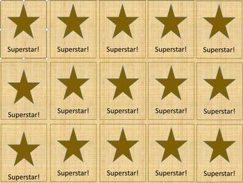 Superstar Brag Tags