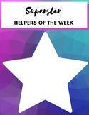 Superstar Helpers of the Week