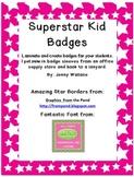 Superstar Kid Badges