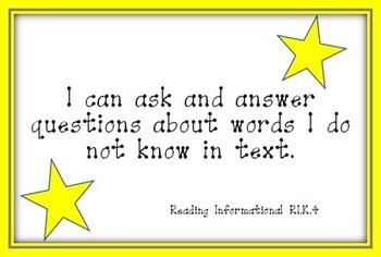 Superstar Kindergarten Kid-Friendly I Can Statements