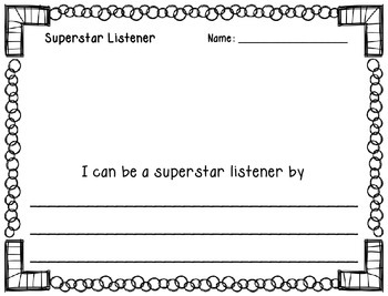 Superstar Listener Poster & Activities