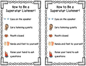 Superstar Listener Poster & Activities
