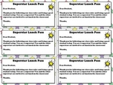 Superstar Lunch Pass Alert - Student Incentive and Positive Parent Communication