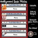 "Hollywood/Movie Theme ""Editable Type-in-Names Deskplates"""