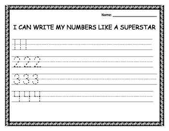 Superstar Number Writing