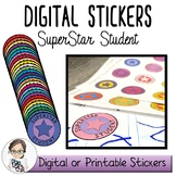 Superstar Student Digital Stickers - Commercial Use Permitted