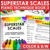 Superstar Scales Piano Technique Book: Scales, Arpeggios, Chord Progressions