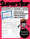 Superstar Sentences! (Simple, Compound, and Complex Sentences Bundle)