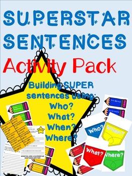 Superstar Sentences - Activites for Writing Great Sentences