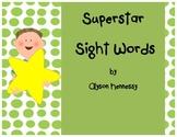 Superstar Sight Words-English!!! (1st Grade, Treasures)
