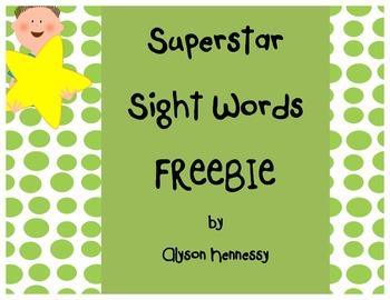 Superstar Sight Words FREEBIE!!!