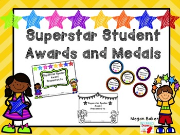 Superstar Student Awards and Medals: End of the Year Fun