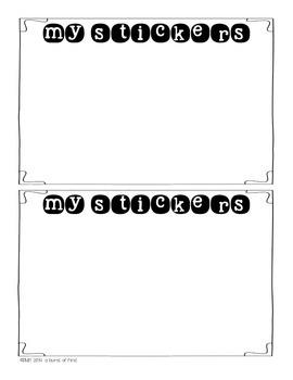 Superstar Student Sticker Book {Freebie}!