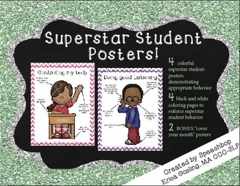 Superstar Students Behavior Posters! {bonus coloring pages}
