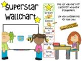 Superstar Wall Chart with pegs - Classroom Behaviour Management