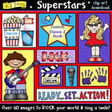 Superstars Clip Art Download - Drama, Music, Movies, Perfo