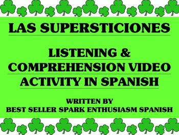 Superstitions Video Activity in Spanish