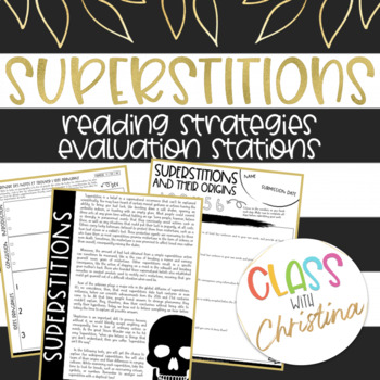 Superstitions and their Origins - Informative Text Reading Evaluation Stations