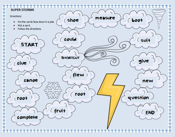 Super Storms spelling game