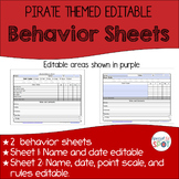 Superteach's Behavior Communication Sheet - Pirate theme (