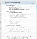 Supervisor Overlap Checklist