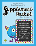 Supplement Packet for Blast Foundations First Grade by Really Great Reading