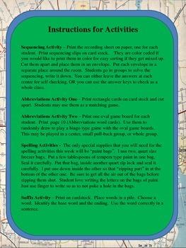 Supplemental Activities- Journeys Unit 5 Lesson 23 - Oliver K. Woodman