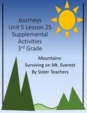 Supplemental Activities- Journeys Unit 5 Lesson 25 - Mountains: