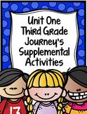 Supplemental Activities for Third Grade Journeys Unit 1 BUNDLE (Lessons 1-5)