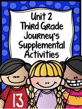 Supplemental Activities for Third Grade Journeys Unit 2 BU