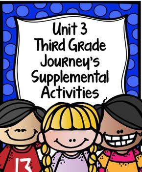 Supplemental Activities for Third Grade Journeys Unit 3 BUNDLE (Lessons 11-15)