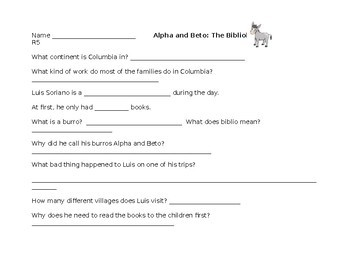 Supplemental Comprehension Quizzes to go with Red LLI Lessons