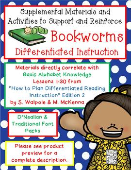 Supplemental Materials for BOOKWORMS CURRICULUM Differentiated Instruction