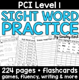 Special Education - Reading Practice Worksheets for PCI Le