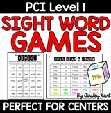Special Education - PCI Level 1 Sight Words Reading- Dice Games!