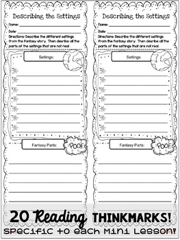 Supplemental Printables for the unit:'Fantasy Unit of Study'