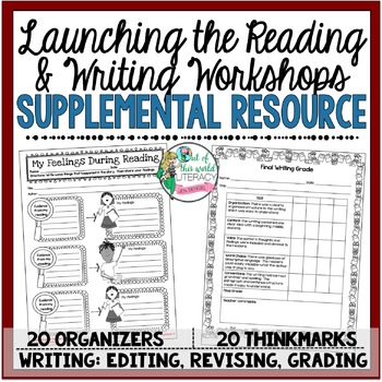 Supplemental Printables for the unit:'Launching the Reading & Writing Workshops'