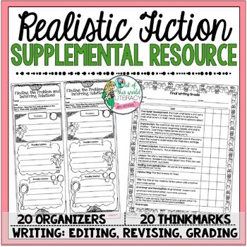Supplemental Printables for the unit:'Realistic Fiction Unit of Study'