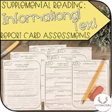 Supplemental Report Card Assessments (Informational Text)