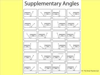 Supplementary Angles BW (finding the measurements)