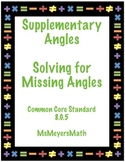 Supplementary Angles, Finding Missing Angles 8.G.5