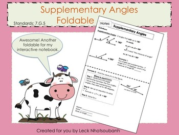 Supplementary Angles Foldable