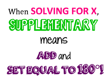 Supplementary Angles Poster