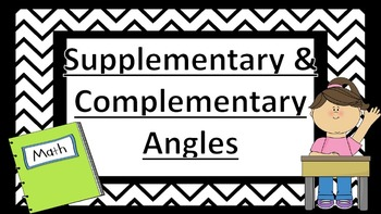 Supplementary & Complementary Angles Task Cards