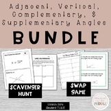 Supplementary, Complementary, Vertical, and Adjacent Angles Activities